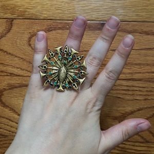 House of Harlow peacock ring